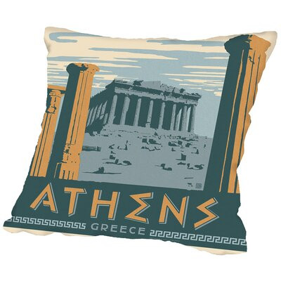Athens Throw Pillow Size: 14 H x 14 W x 2 D