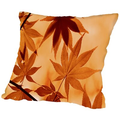 Autumn Leaf Throw Pillow Size: 16 H x 16 W x 2 D