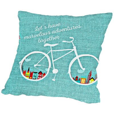 Adventure Bike Throw Pillow Size: 14 H x 14 W x 2 D