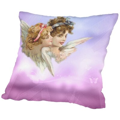 Angel Love Faith Throw Pillow Size: 16 H x 16 W x 2 D