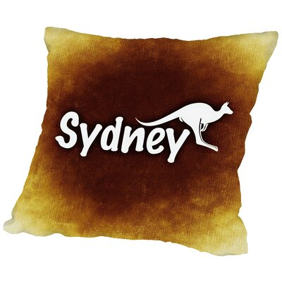 Australia Sydney Throw Pillow Size: 14 H x 14 W x 2 D