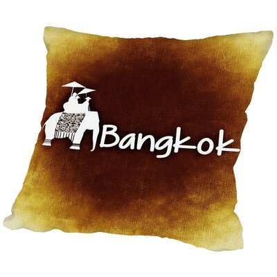 Bangkok Throw Pillow Size: 18 H x 18 W x 2 D