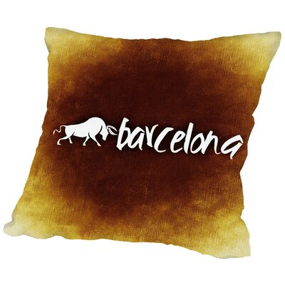 Barcelona Spain Throw Pillow Size: 18