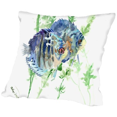 Aquarium Fish Throw Pillow Size: 14
