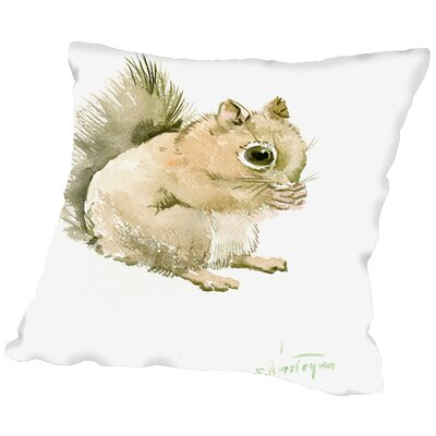 Aquirrel Throw Pillow Size: 18 H x 18 W x 2 D