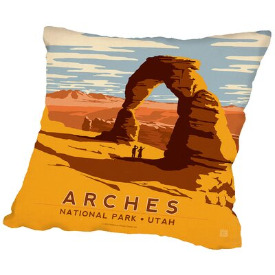 Arches Throw Pillow Size: 18 H x 18 W x 2 D