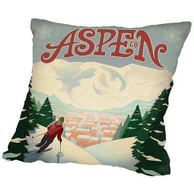Aspen Throw Pillow Size: 18 H x 18 W x 2 D