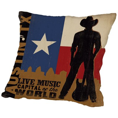Austin Throw Pillow Size: 16 H x 16 W x 2 D