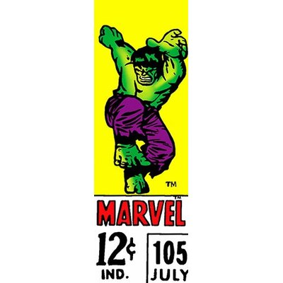 Marvel Comics (Retro) - Book Hulk Price Tag Panoramic Vintage Advertisement on Canvas EASU6229 34120835