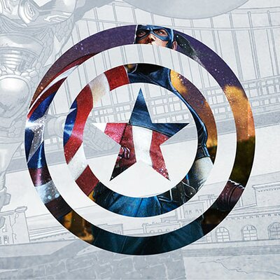 "'Captain's America Shield II' Graphic Art on Canvas Size: 12"" H x 12"" W x 1.5"" D EASU6262 34121790"