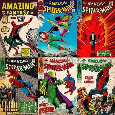 Marvel Comics Comics (Retro) - Book Spider-Man Comics Covers #3 Vintage Advertisement on Canvas EASU6343 34124917