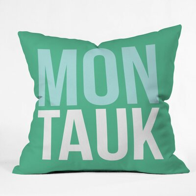 Montauk Beach Polyester Throw Pillow Size: 20 H x 20 W x 6 D