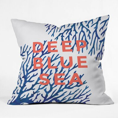 Under The Seas Polyester Throw Pillow Size: 20 H x 20 W x 6 D