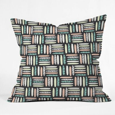 Wild Night Polyester Throw Pillow Size: 16 H x 16 W x 4 D