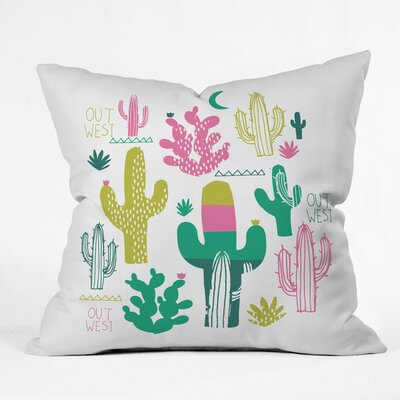 Zoe Wodarz Cactus Out West Polyester Throw Pillow Size: 26 H x 26 W x 7 D