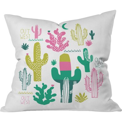 Cactus Out West Polyester Throw Pillow Size: 16 H x 16 W x 4 D