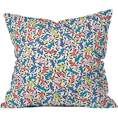 Pop Scribbles Polyester Throw Pillow Size: 16 H x 16 W x 4 D
