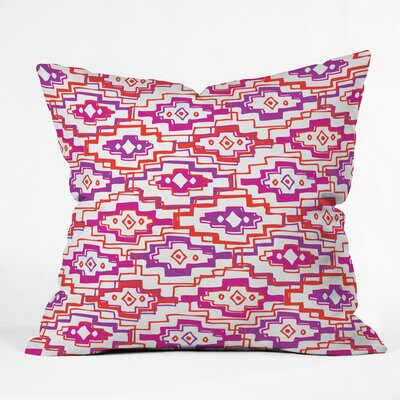 Hot Southwest Polyester Throw Pillow Size: 16 H x 16 W x 4 D