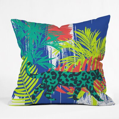 Jungle Cat Polyester Throw Pillow Size: 18 H x 18 W x 5 D