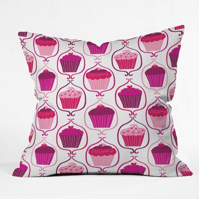 Cupcake Delight Polyester Throw Pillow Size: 18 H x 18 W x 5 D