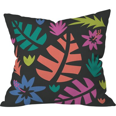 Cut Paper Night Jungle Polyester Throw Pillow Size: 16 H x 16 W x 4 D