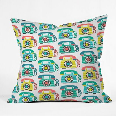 Ring Ring Polyester Throw Pillow Size: 18 H x 18 W x 5 D