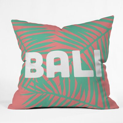 Bali Life Polyester Throw Pillow Size: 18 H x 18 W x 5 D