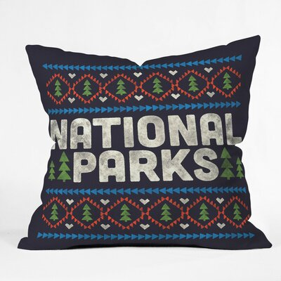 Park Nation Polyester Throw Pillow Size: 16 H x 16 W x 4 D