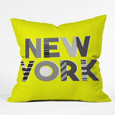 Hot Summer In the City Polyester Throw Pillow Size: 26 H x 26 W x 7 D