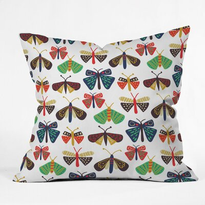 Moths To A Flame Polyester Throw Pillow Size: 18 H x 18 W x 5 D