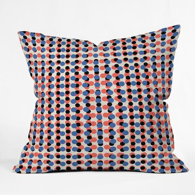 Digital Dot Bright Polyester Throw Pillow Size: 26 H x 26 W x 7 D