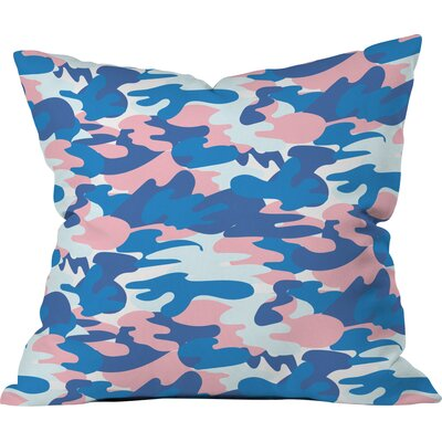 Camo Polyester Throw Pillow Size: 18