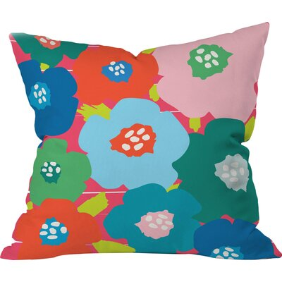 Big Flower Pop Polyester Throw Pillow Size: 16 H x 16 W x 4 D