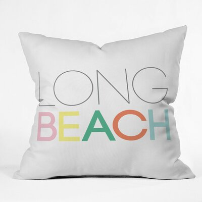Long Beach Lounge Polyester Throw Pillow Size: 26 H x 26 W x 7 D