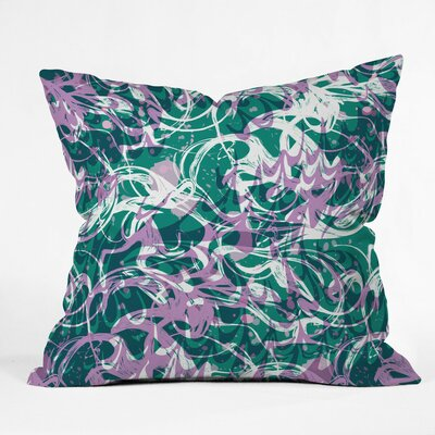 Marbled Waves Polyester Throw Pillow Size: 18 H x 18 W x 5 D