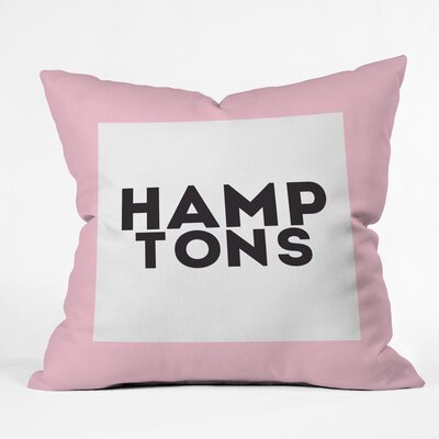 Hamptons Weekend Polyester Throw Pillow Size: 16 H x 16 W x 4 D