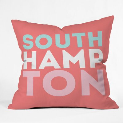South Hampton Hop Polyester Throw Pillow Size: 16 H x 16 W x 4 D