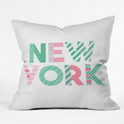 Cool Summer In the City Polyester Throw Pillow Size: 16 H x 16 W x 4 D