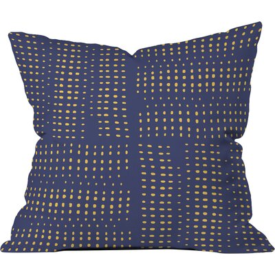 Summer Porch Polyester Throw Pillow Size: 18 H x 18 W x 5 D, Color: Blue
