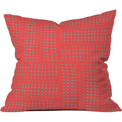 Zoe Wodarz Summer Porch Polyester Throw Pillow Color: Red, Size: 18 H x 18 W x 5 D