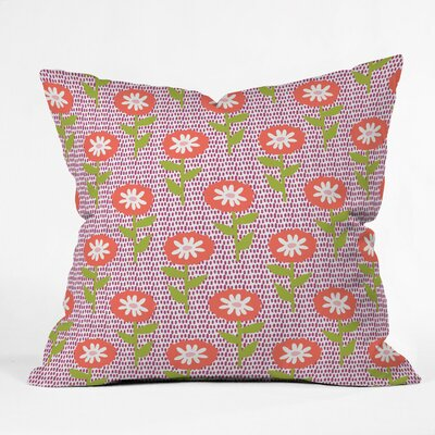 Dotty Floral Polyester Throw Pillow Size: 16 H x 16 W x 4 D