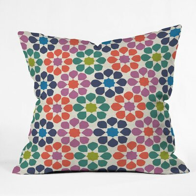 Sunny Day Tile Polyester Throw Pillow Size: 16 H x 16 W x 4 D