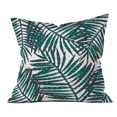 The Palm Hotel Polyester Throw Pillow Size: 16 H x 16 W x 4 D