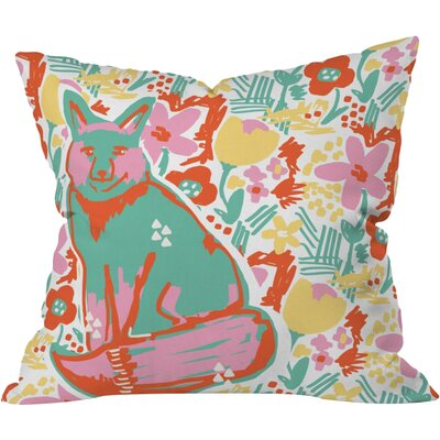 Fox Garden Polyester Throw Pillow Size: 16 H x 16 W x 4 D