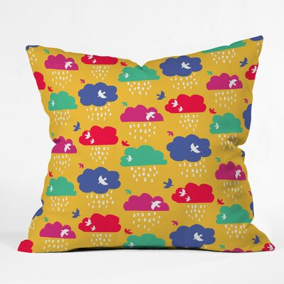 Up And Away Polyester Throw Pillow Size: 16 H x 16 W x 4 D
