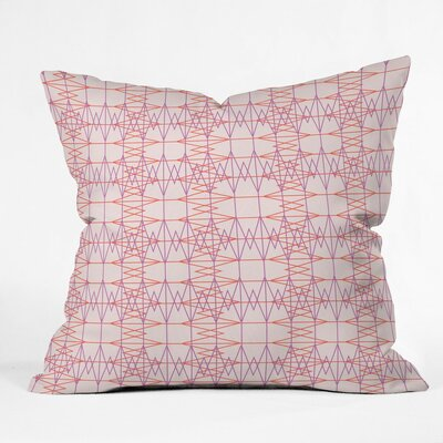 Geo Stitch Plaid Polyester Throw Pillow Size: 18 H x 18 W x 5 D