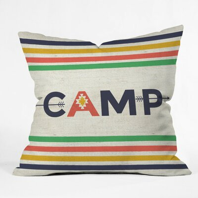 Bonfire Blanket Polyester Throw Pillow Size: 26 H x 26 W x 7 D