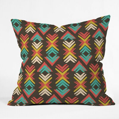 Zoe Wodarz Happy Trails Deep Woods Polyester Throw Pillow Size: 26 H x 26 W x 7 D