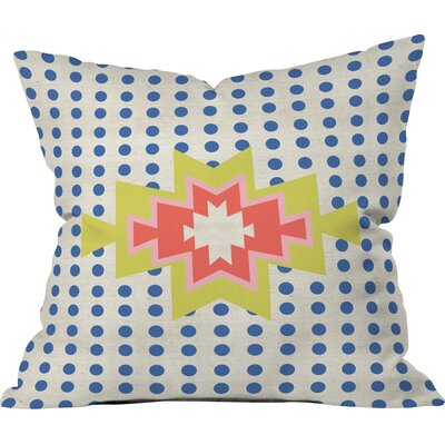 Southest Pin Dot Polyester Throw Pillow Size: 26 H x 26 W x 7 D, Color: Blue