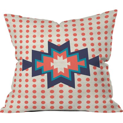 Southest Pin Dot Polyester Throw Pillow Size: 26 H x 26 W x 7 D, Color: Red